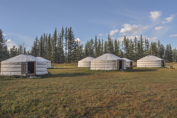 YURT ACCOMMODATION, MONGOLIA